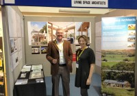 Kirsty and Stuart man the Regen Southwest stand at Westpoint, Exeter