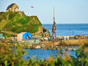 Damien Hirst's Verity statue, Devon