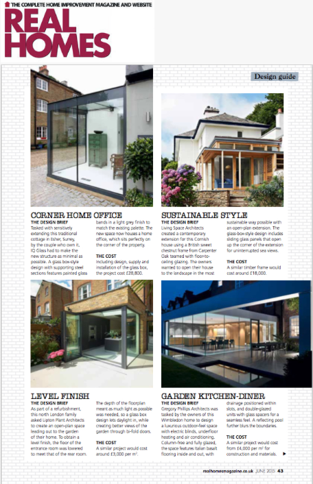 Published in Real Homes Magazine – Living Space Architects RIBA ...