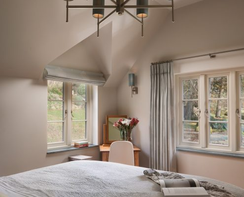 Bedroom with large light