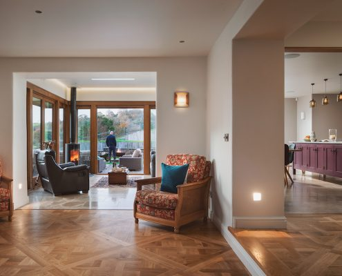 Hallway with large entrance to the extension creating and open and spacious layout